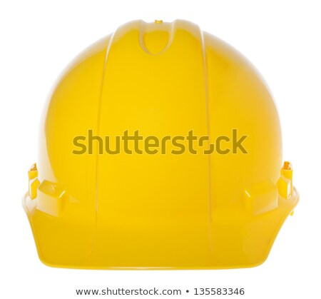 Isolated Hard Hat - Frontal White & Yellow Stock photo © eldadcarin