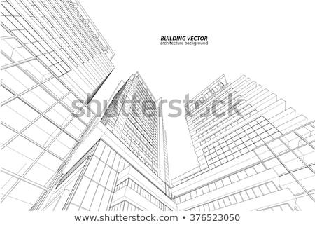 Corporate building sketch Stock photo © romvo