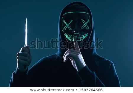 Crimineel mes hand aangrijpend gevaarlijk Stockfoto © ArenaCreative