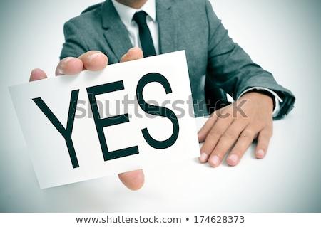 business man choose agree word Stock photo © tungphoto