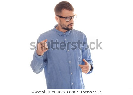 Nerdy looking young man giving a lecture Stock photo © stryjek