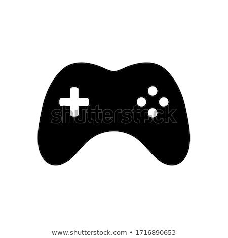 Pc joystick ikon örnek yalıtılmış Stok fotoğraf © cidepix