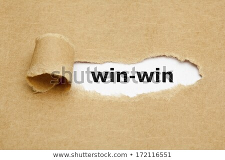 Win-Win Concept Torn Paper Stock photo © ivelin