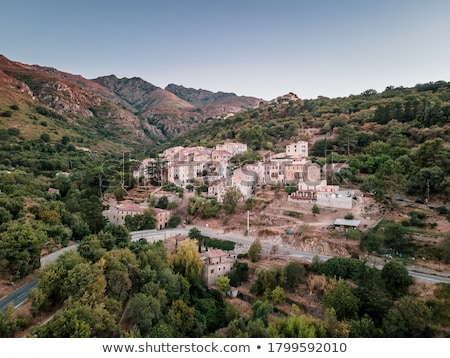 Ville di Paraso in the Balagne region of Corsica Stock photo © Joningall