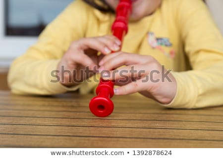 Young girl playing a recorder Stock photo © stryjek