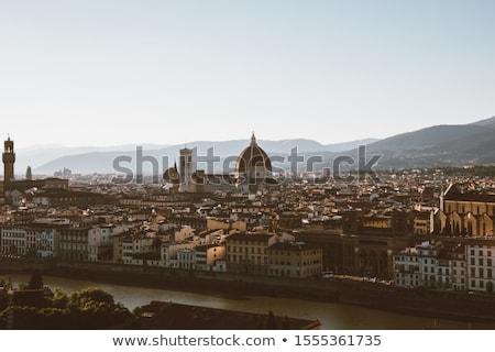 Görmek Floransa tepe görüntü gökyüzü manzara Stok fotoğraf © magann