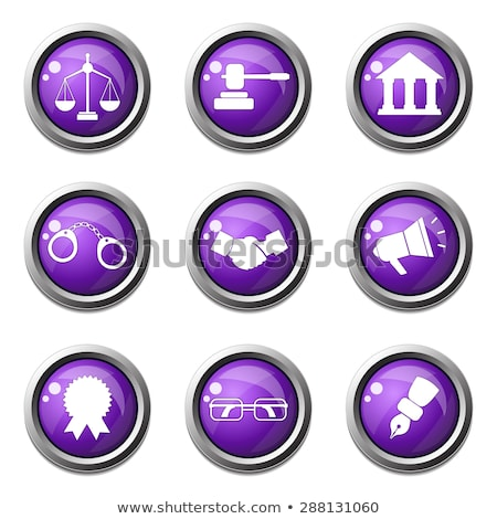 Law Sign Violet Vector Button Icon Design Set Stock photo © rizwanali3d