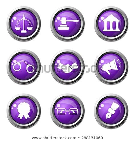 Law Sign Violet Vector Button Icon Design Set Stock photo © rizwanali3d