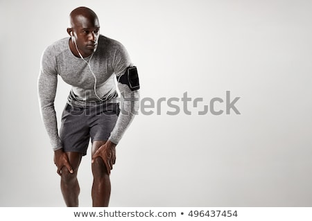 Fitnessz férfi modell portré izmos garázs test Stock fotó © stryjek