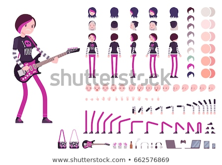 Emo look girl Stock photo © fanfo