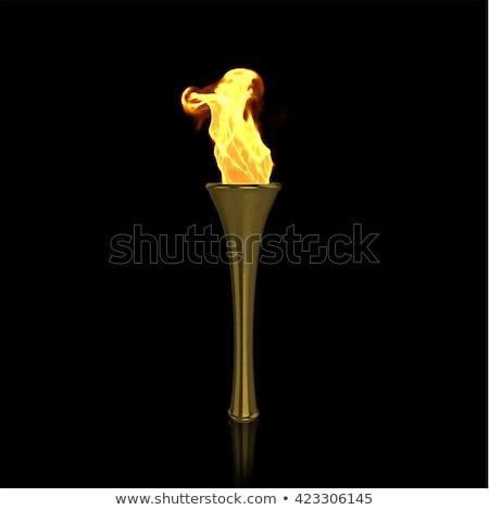 Siyah el feneri beyaz arka plan karanlık güç Stok fotoğraf © shutswis