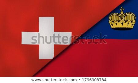 Switzerland and Liechtenstein Flags Stock photo © Istanbul2009