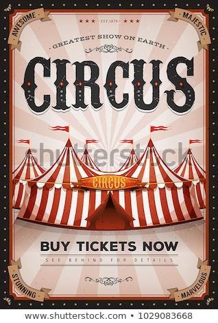 Red Magic Circus Poster Stock photo © benchart