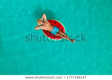 férfi · medence · víz · boldog · fitnessz · sportok - stock fotó © Paha_L