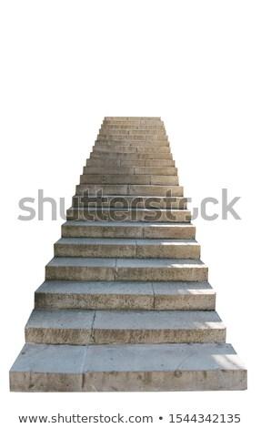 Taş merdiven eski yol doğa Stok fotoğraf © avq