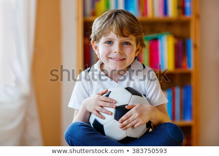 Young boy with a German flag Stock photo © andreasberheide
