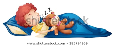 A young boy sleeping soundly Stock photo © bluering