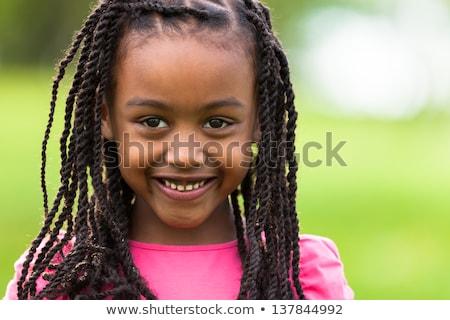 африканских · белья · молодые · девушки · черное · белье · женщину - Сток-фото © deandrobot