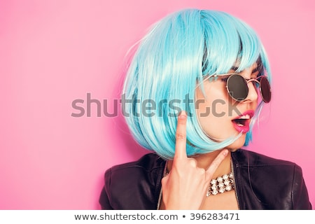девушки · сирень · красивая · девушка · цветок · улыбка · лице - Сток-фото © bezikus