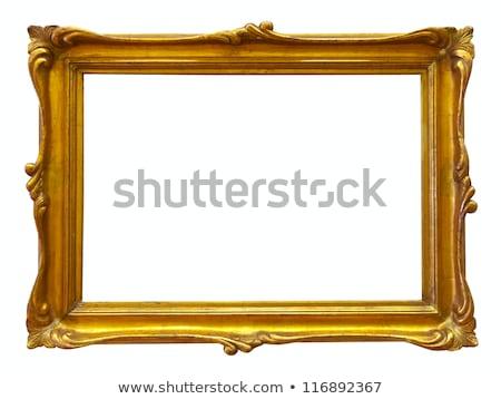 金 フレーム 白 アンティーク 孤立した 壁 ストックフォト © plasticrobot