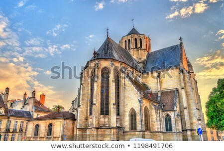 iglesia · ciudad · Francia · cielo · viaje · retro - foto stock © meinzahn