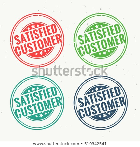 satisfied customer rubber stamp set in four different colors Stock photo © SArts