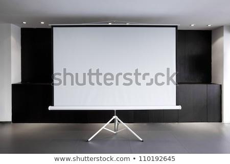 tripod whiteboard with blank screen stock photo © robuart