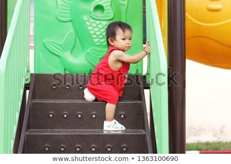 Játszótér lépcsősor szett fa tornaterem bár Stock fotó © BrandonSeidel