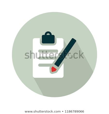 Questionnaire stylo décisions Photo stock © devon