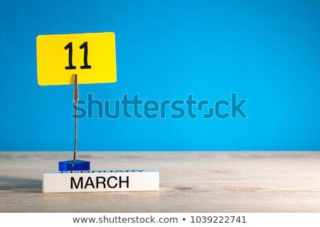 Calendário ilustração 3d primavera abstrato Foto stock © Oakozhan