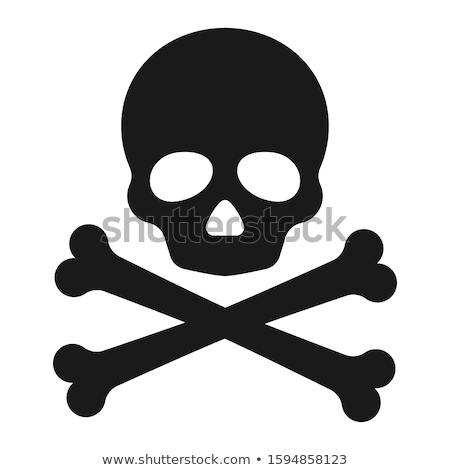 Skull and Crossbones Pirate Sign Cartoon  Stock photo © Krisdog