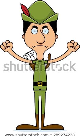 Cartoon Angry Robin Hood Man Stock photo © cthoman