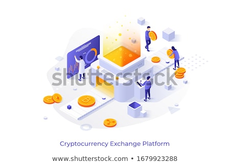 Blockchain Bitcoin Platform Vector Illustration Stock photo © robuart