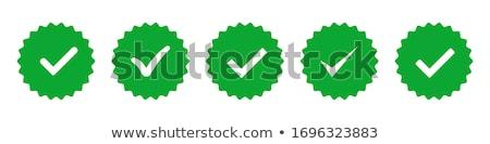 approvato · etichetta · badge · design · verde - foto d'archivio © kyryloff