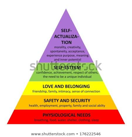 Psychologie pyramide 3d illustration hiérarchie haut noir Photo stock © olivier_le_moal