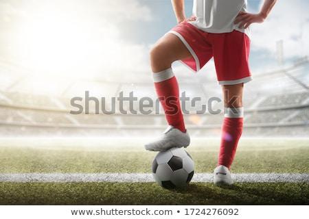 サッカー キック 3D 文字 ボール ストックフォト © visualdestination