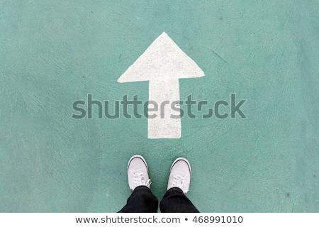 Első lépés első levél lépcső szürke Stock fotó © AndreyPopov