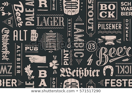 Oktoberfest Seamless Pattern With Drink and Food Stock photo © barsrsind