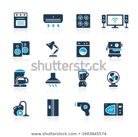 Household Appliances Icons // Azure Series Stock photo © Palsur