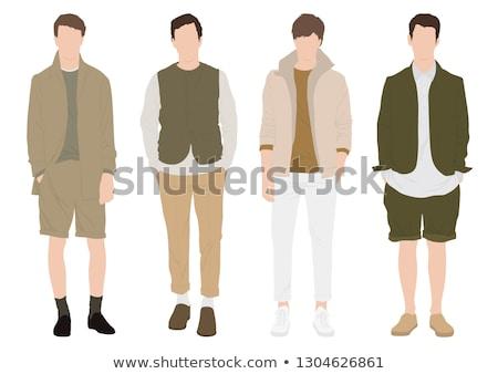 Junge tragen Safari weiß Illustration glücklich Stock foto © bluering