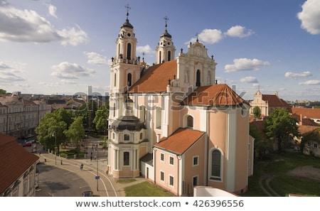 教会 ヴィルニアス リトアニア スタイル 遅い ストックフォト © borisb17