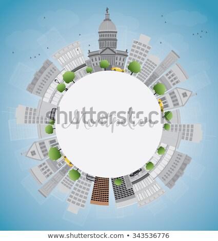 Vermont szary budynków skopiować kopia przestrzeń Zdjęcia stock © ShustrikS