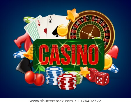 Dice Game Casino Bright Advertising Poster Vector Stock photo © pikepicture