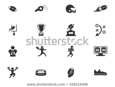 アメリカン サッカー 単に アイコン シンボル webアイコン ストックフォト © ayaxmr