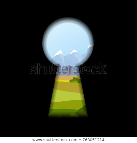 Anahtar deliği biçim doğa manzara arkasında siyah Stok fotoğraf © evgeny89