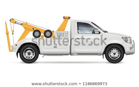 Tow trucks vector template Stock photo © YuriSchmidt