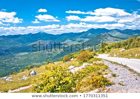Velebit mountain landscape and road view, Northern Velebit Stock photo © xbrchx