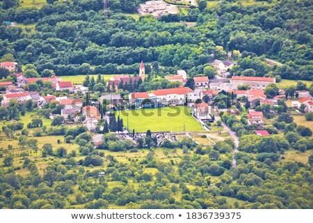 Aldeia vale região Croácia mar Foto stock © xbrchx