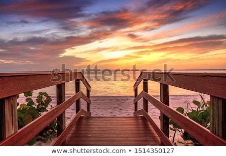 Napfelkelte öböl Nápoly Olaszország égbolt víz Stock fotó © elxeneize
