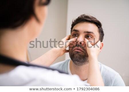Arts onderzoek sinus ontsteking vrouw Stockfoto © AndreyPopov